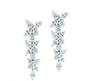 Pendientes de novia estrellas de Tiffany