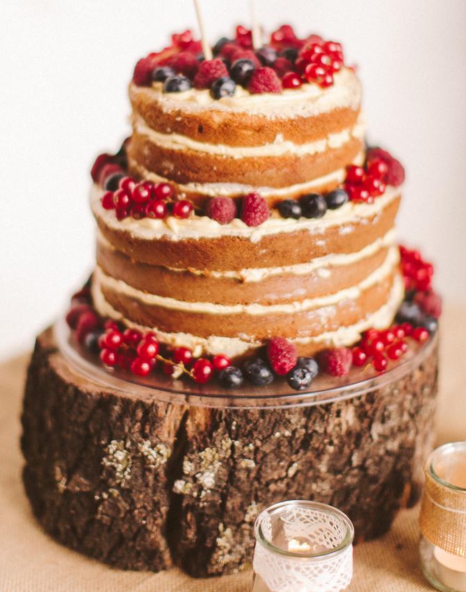 Naked cake con frutas