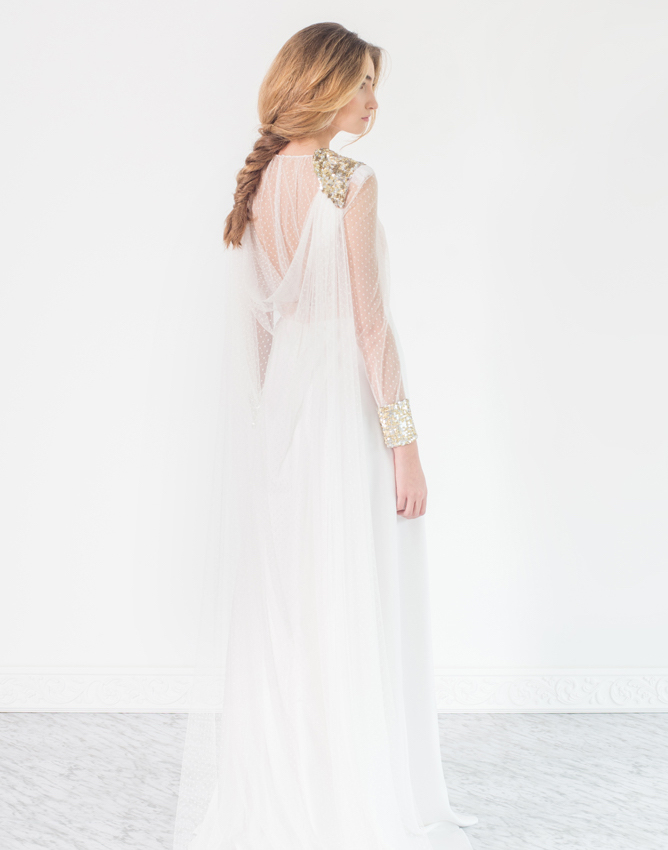 Los mejores vestidos de novia con plumeti