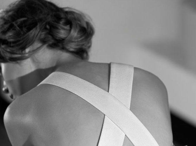 Vestido de novia con espalda sexy