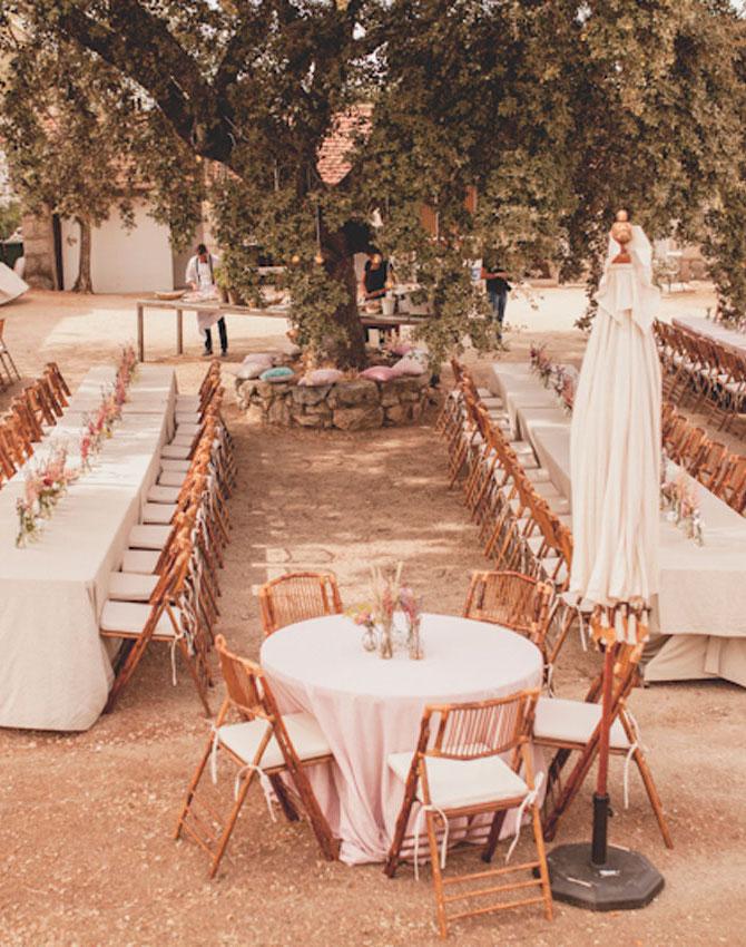 Tipos de mesas para organizar un banquete 10