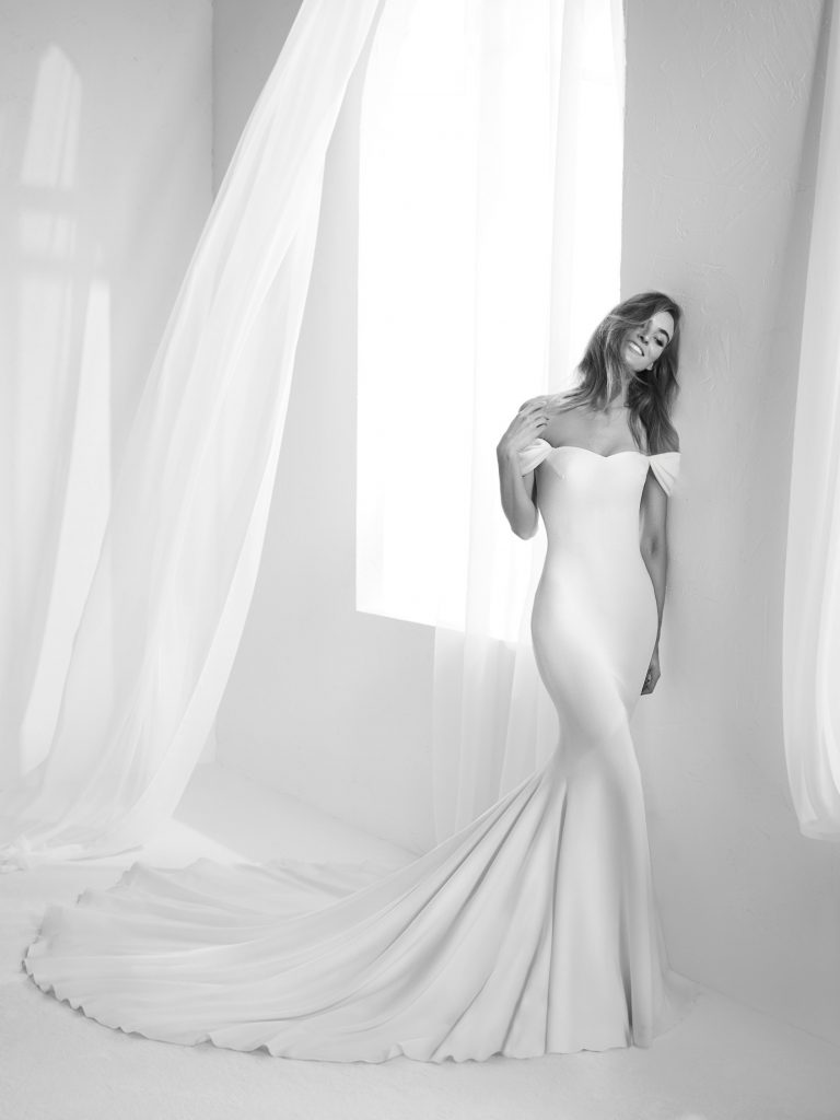 Vestido de novia off the shoulders