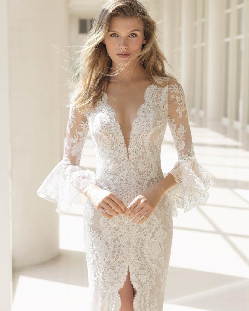 Vestidos de novia con volantes 2018