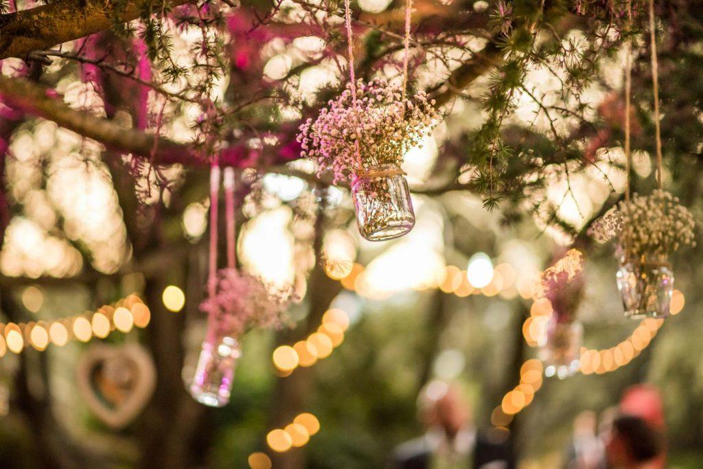 Decoración aérea para bodas
